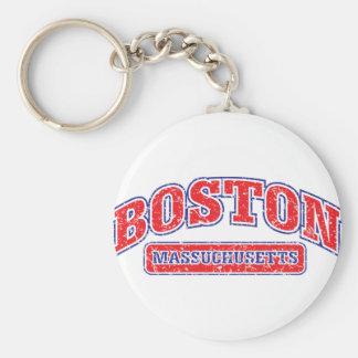 Boston Athletic Design Basic Round Button Keychain