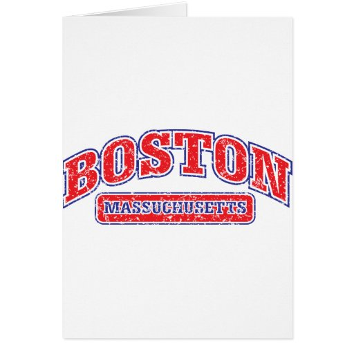 Boston Athletic Design Greeting Cards