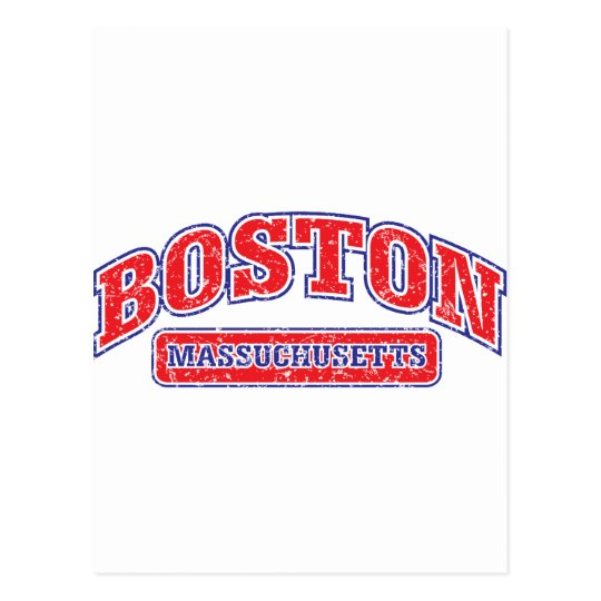 Boston Athletic Design Postcard