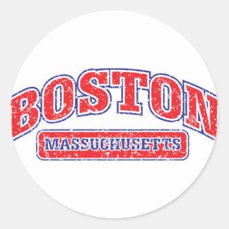 Boston Athletic Design Round Stickers