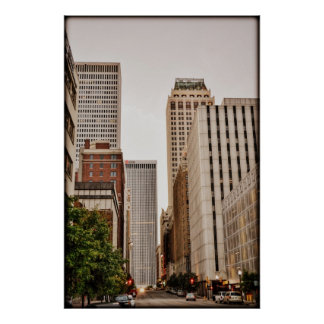 Boston Ave, Downtown Tulsa OK Poster