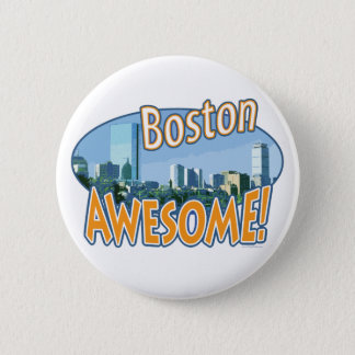 Boston Awesome Gear by Mudge Studios Pinback Button
