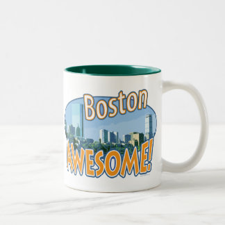 Boston Awesome Gear by Mudge Studios Two-Tone Coffee Mug