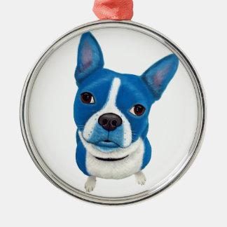 Boston azul Terrier Ornamento Para Arbol De Navidad