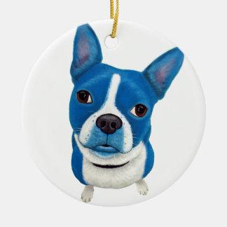 Boston azul Terrier Ornamento De Reyes Magos