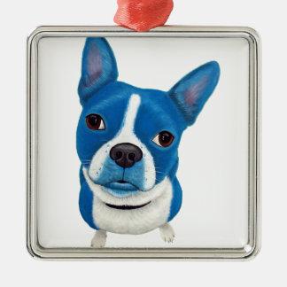 Boston azul Terrier Adornos De Navidad