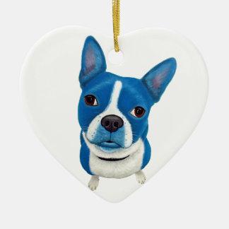 Boston azul Terrier Ornamento Para Reyes Magos