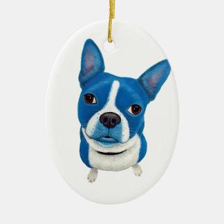 Boston azul Terrier Ornamento De Navidad