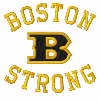Boston B Strong Embroidered Embroidery Embroidered Shirt