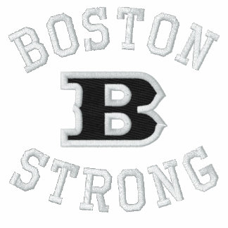 Boston B Strong Embroidered Embroidery Sweatshirt