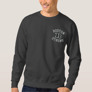 Boston B Strong Embroidered Embroidery Embroidered Sweatshirt