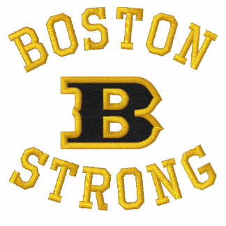 Boston B Strong Embroidered Ribbon Edition Embroidered Polo Shirt