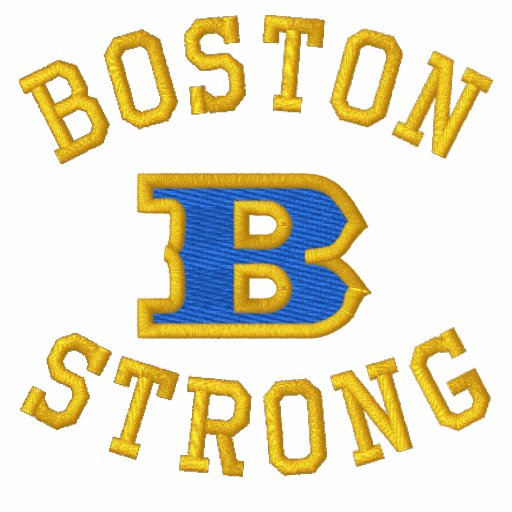 Boston B Strong Embroidered Ribbon Edition Polo