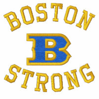 Boston B Strong Embroidered Ribbon Edition Embroidered Shirts