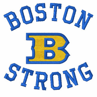 Boston B Strong Embroidered Ribbon Edition Polo Shirt