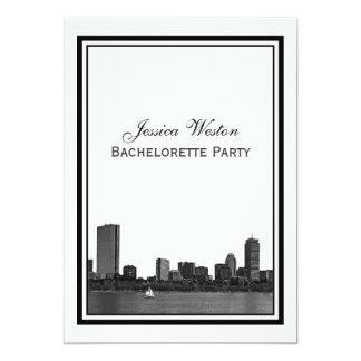 """Boston Bachelorette enmarcado grabado al agua Invitación 5"""" X 7"""""""