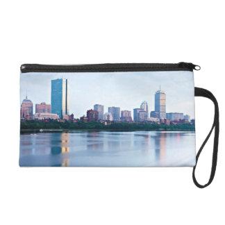 Boston Back bay across Charles River Wristlet