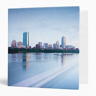 Boston Back bay across Charles River Vinyl Binder