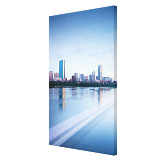 Boston Back bay across Charles River Stretched Canvas Prints