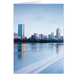 Boston Back bay across Charles River Greeting Cards