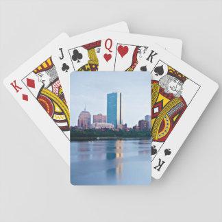 Boston Back bay across Charles River Card Deck