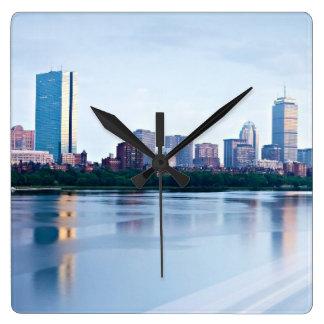 Boston Back bay across Charles River Wall Clocks