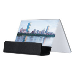 Developer business card holders cases zazzle boston back bay across charles river desk business card holder reheart Images