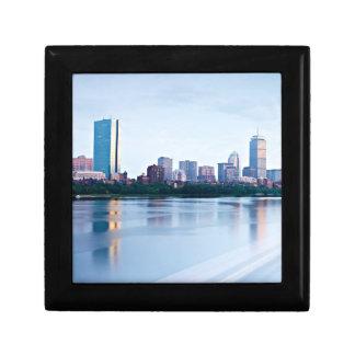 Boston Back bay across Charles River Trinket Box