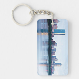 Boston Back bay across Charles River Acrylic Keychain
