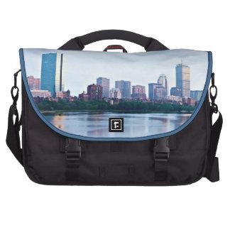 Boston Back bay across Charles River Laptop Messenger Bag