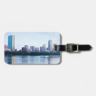Boston Back bay across Charles River Luggage Tag