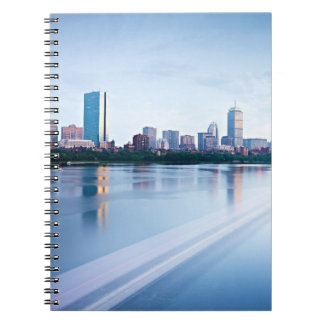 Boston Back bay across Charles River Notebook