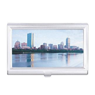 Boston Back bay across Charles River Business Card Case