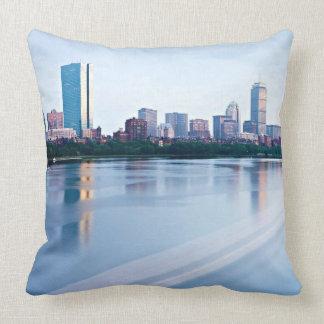 Boston Back bay across Charles River Throw Pillow