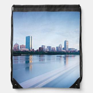 Boston Back bay across Charles River Backpack