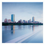 Boston Back bay across Charles River Posters