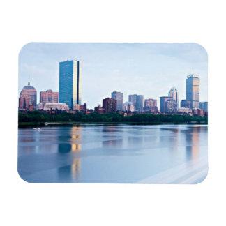 Boston Back bay across Charles River Flexible Magnet