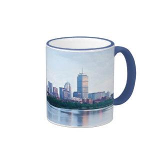 Boston Back bay across Charles River Ringer Mug