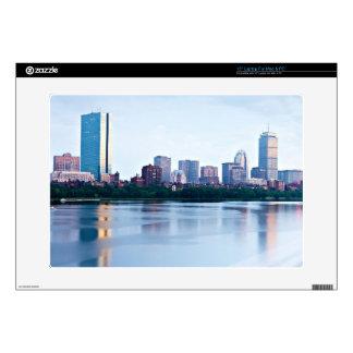 "Boston Back bay across Charles River 15"" Laptop Skins"