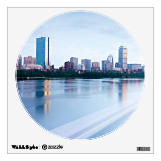 Boston Back bay across Charles River Wall Decal