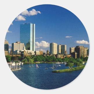 Boston Back Bay Area Classic Round Sticker