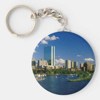 Boston Back Bay Area Keychain