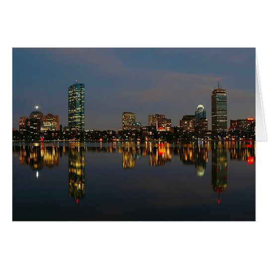 Boston Backbay at Night Card