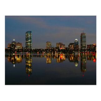 Boston Backbay at Night Postcard