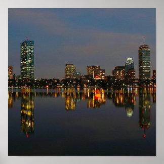 Boston Backbay at Night Print