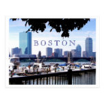 Boston - barcos, ramas y puentes tarjeta postal