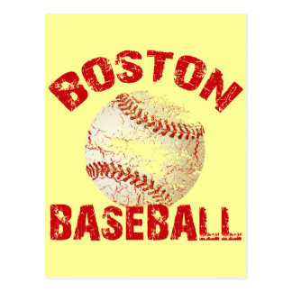 BOSTON BASEBALL - GRUNGE STYLE POSTCARD