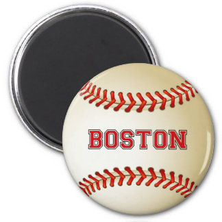 BOSTON BASEBALL 2 INCH ROUND MAGNET