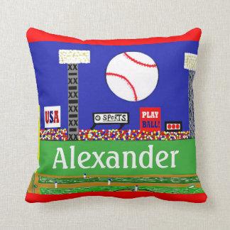 Boston Baseball Personalized Throw Pillow Gift