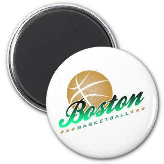 Boston Basketball Magnet